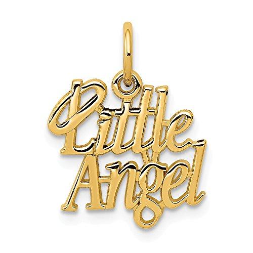 Diamond2deal Anhänger Engel 14 Karat Gelbgold