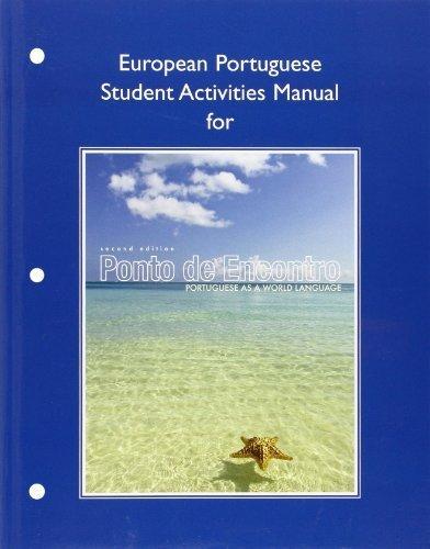 European Student Activities Manual for Ponto de Encontro: Portuguese as a World Language by Clemence de Jouet-Pastre (2012-02-04)