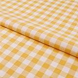 Hans-Textil-Shop Stoff Meterware Karo 15x15 mm Gelb