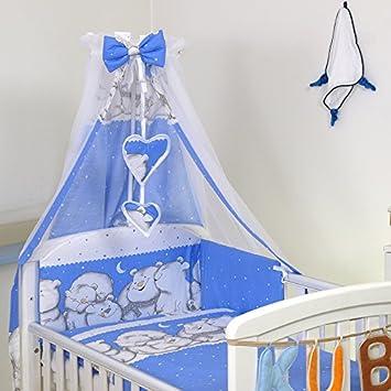 Bett 140x70cm 10 tlg Babybettwäsche Set 135x100cm Nestchen Himmel Bettbezug f