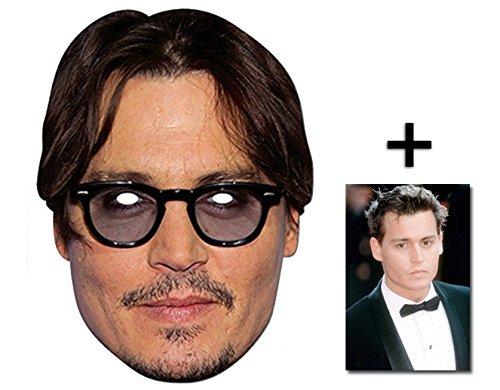 Johnny Depp berühmtheit Single Karte Partei Gesichtsmasken (Maske) Enthält 6X4 (15X10Cm) ()