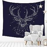 Geweih Konstellation gedruckt Tapisserie Muster Wandbehang Home Bed Yoga Mat Blatt Tischdecke Strand Decke Wand Bettdecke GT-400 (Color : 1, Size : 200 * 150)