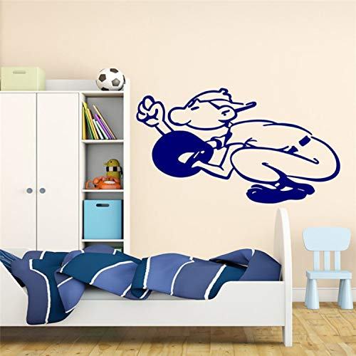 Baseball Catcher Ball Vinyl Aufkleber Wandaufkleber Sport Boy Schlafzimmer American Game Wandtattoo Für Teens Room Removable Decor -