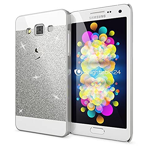 Samsung Galaxy A3 2015 Hard-Case by NICA, Sparkly Mobile Phone Back-Cover Ultra-Thin Skin Protector, Sparkle Glitter Shock-Proof Bumper Flexible Slim-Fit Protective Bling Backcase for A3-2015 -