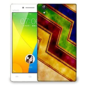 Snoogg Waves yellow Designer Protective Back Case Cover For VIVO Y51 L