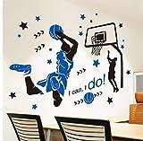 Lbonb Adesivo Da Muro Dunk Basket Sticker Adesivi Murali Stile Sportivo Per La Stanza Del Ragazzo Decorazione Del Campo Da Basket