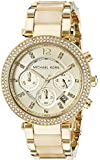 Michael Kors Women's Quartz Watch with Black Dial Chronograph Display and MK5632 different materials