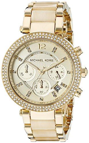 Michael-Kors-MK5632-Reloj-de-cuarzo-para-mujer-correa-de-diversos-materiales-color-dorado