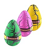 Yeelan Hatching Dino Dinosaurio Dragon Hatch-Grow Huevos Pack de gran tamaño de 3PCS, grieta de...