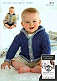 Sirdar Snuggly DK Baby Knitting Pattern 1813