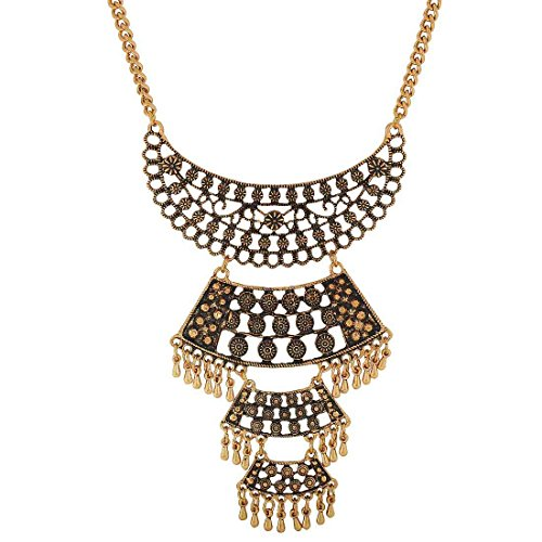 Maayra Designer Pendant Gold Cocktail Party Jewellery - Special, Rhodium Plated, Brass based  available at amazon for Rs.425