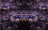 BHXINGMU Murales Fotográficos Personalizados Plantas Abstractas De Noche Fondos De Pantalla De Hoteles Grandes Decoraciones Murales 280Cm(H)×400Cm(W)