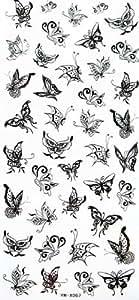 Belle papillon volant YiMei tatouages temporaires