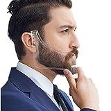 YUMSUM Modèle de barbarie Maquillage de moustaches Outil Shaper ABS Peau de barbe - Coupe coupée, coupe à pas, décolleté, chevauchée pour barbes de cheveux pour hommes,Transparent...