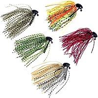 5 pcs 10g (3/8oz) mixto color Fly Caucho Natación Bass Señuelos Señuelos de Pesca