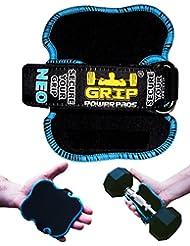 Meilleures Poignées de levage par Grip Power Pads® NEO | Les Gants Alternatif de Gym | Gants d'entraînement sans glissement, gants rembourrés Bodybuilding | Hommes / Tampons de levage et d'entraînement en néoprène rembourré.