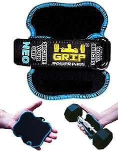 Meilleures Poignees de levage par Grip Power Pads NEO | Les Gants Alternatif de Gym | Gants d'entraenement sans glissement, gants rembourres Bodybuilding | Hommes / Tampons de levage et d™entraenement en neoprene rembourre.