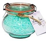 Wellness Badesalz Totes Meer Deep Pacific im Glas, Badezusatz im Weck Schmuckglas 250 g