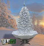 Weihnachtsbaum mit Schneefall, Schnee, LED Lichterkette, Musik - in weiß 2 Meter hoch