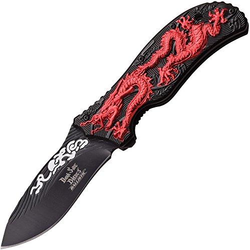 Dark Side Blades Erwachsene Red Dragon, Klingenlänge: 8, 76 cm, DS-A042RD Taschenmesser, Mehrfarbig, M Red Dragon Taschenmesser