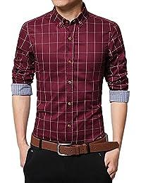 82996c53b5da6 FAMILIZO Camisas Hombre Manga Larga Slim Fit Camisas Hombre Lino Camisas  Hombre Originales Tops Blusa Hombre Blanca Otoño Casual Formal…