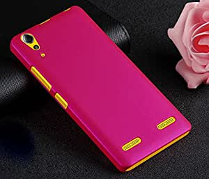 WOW Imagine(TM) Rubberised Matte Hard Case Back Cover For LENOVO A6000 / A6000+ A6000 PLUS (Pink)