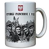 Czterej Pancerni i Pies Vier Panzersoldaten und ein Hund Panzer Soldat TV Serie Polen polnisch Kult - Kaffee Becher Tasse #12325