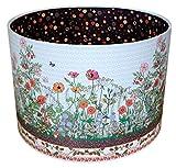 Wildblume Lampenschirm MollyMac | Gefüttert mit einem abstrakten Punktmuster | Bunte landschaft hecke | 21 x 30 cm | Decke oder Lampensockel | Vielseitiges Zuhause | Landhaus