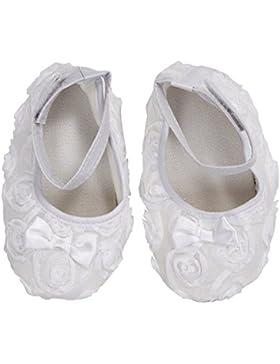 Zapatos - SODIAL(R)zapatos comodos de nino pequeno de princesa antideslizantes(6-12 meses, blanco)