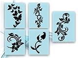 Airbrush-Schablonen- Nagellack Schablonen für aufregende selbstklebende Airbrush Nailart im Set