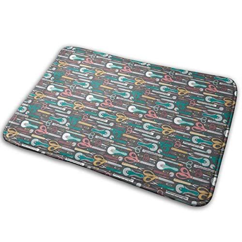 Memory Foam-WC-Badteppich, Nähvorschläge von Quilter Anti-Rutsch-Superweiche Shaggy-Teppiche für Wohnzimmer BedroomK Büro, Quick Dry Eingangsbereich-Teppich 40X60CM