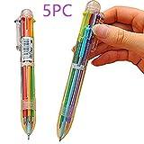 Kugelschreiber 6 Farbe,5 Stück Worsendy Kugelschreiber Mehrfarbig Transparenter...