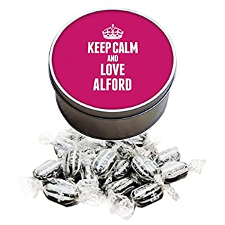 Duke Gifts PINK Keep Calm and Love Alford Everton Mints Sweet Tin 0008