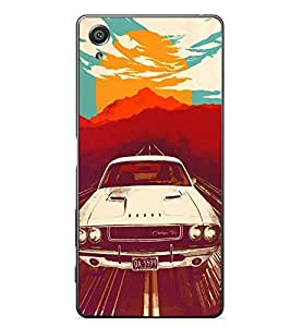 PrintVisa Old Vintage Car High Glossy Metal Designer Back Case Cover for Sony Xperia X :: Sony Xperia X Dual F5122