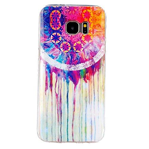 DETUOSI® TPU Silikon Schutz Samsung S7 Edge Handy Hülle Case Tasche Etui Schutzhülle für Samsung SM-G935F Galaxy S7 Edge (Wasserleitungen)