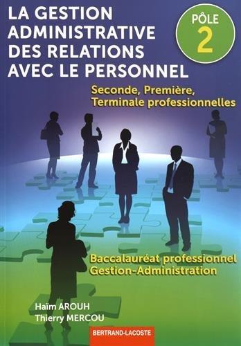 Pôle 2-la Gestion Adm. des Relations avec le Personnel par Arouh-Mercou