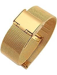 NEW de haute qualité en maille milanaise en acier inoxydable Bracelet montre Doré 10mm