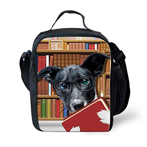 showudesigns Crossbody Lunch Bag Kids für Erwachsene Hunde Katze Pattern Kleine Lebensmittel Picknick Box S Dog 3