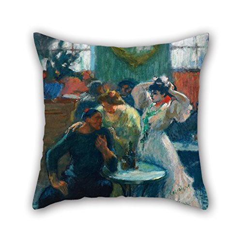 slimmingpiggy-20-x-20-inches-50-by-50-cm-oil-painting-ricard-canals-in-the-bar-pillow-covers-2-sides