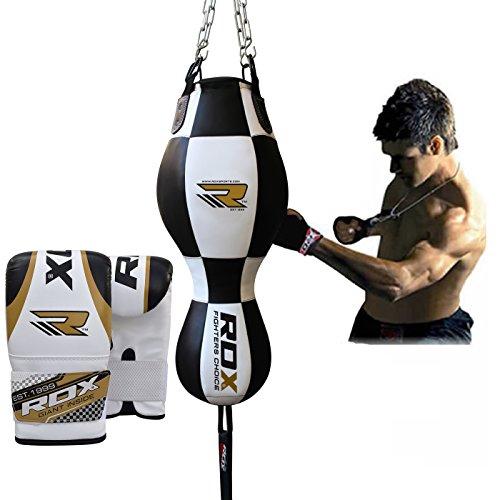 RDX Boxe Pelle 3 in 1 Sacchi Pugilato Palla Veloce MMA Angolo Bag Pieno Sacco Guanti Terra Base