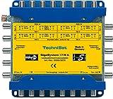TechniSat GIGASYSTEM 17/8 K Multischalter, Kaskade für 8 weitere Teilnehmer, 4 Orbitpositionen