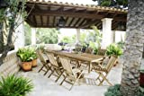 SAM 9tlg. Gartengruppe Kuba, Teak-Holz Gartenmöbel, 1 x Auszugstisch Menorca, 8 x Klappstuhl