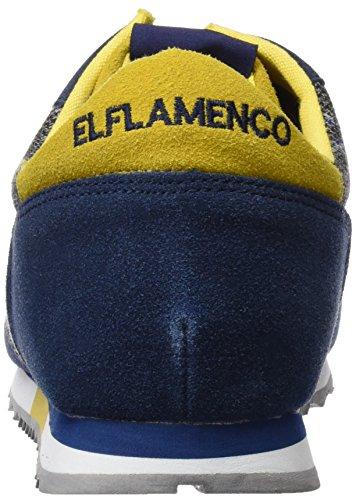 El Flamenco Deportiva Caballero Principe de Gales, Chaussures Homme Bleu