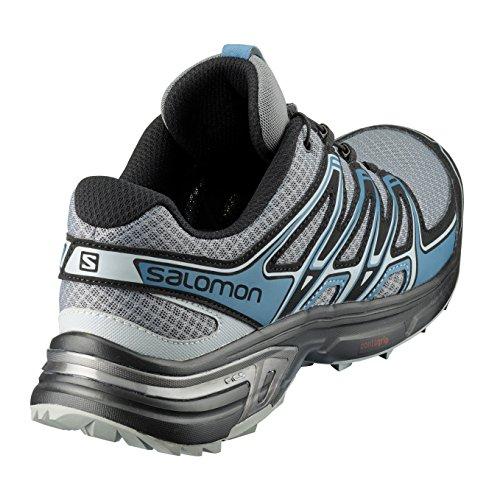 Salomon Homme Wings Flyte 2 Chaussures de Course à Pied et Trail Running, Synthétique/Textile, Bleu, Pointure Gris (Quiet Shade/Black/Mallard Blue)