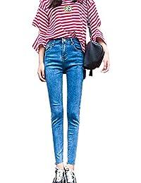 ff7ea0429c4383 DaBag Damen Große Größen Bootcut Jeans Hohe Taille Stretch Hüftjeans Skinny  Jeanshosen Schlanke Bleistifthose