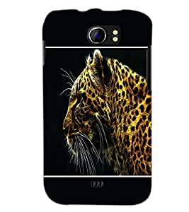 PrintDhaba Leopard D-1290 Back Case Cover for MICROMAX A110Q CANVAS 2 PLUS (Multi-Coloured)