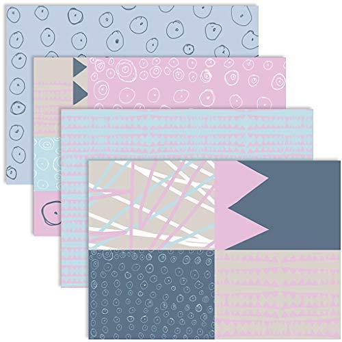 YooKreativ Premium Dekorpapier, Designpapier, Découpage-Papier - Sortiment, Bastelpapier Blatt 25x35 cm, 17 g, Pastellfarben, 8Bl. sort.