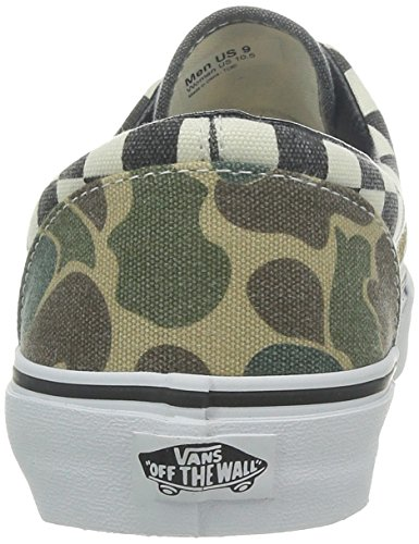 Vans U Era, Baskets mode mixte adulte Verde (Van Doren Camo/White Checker)