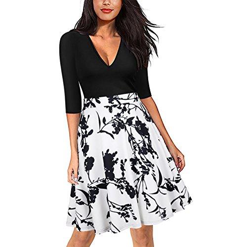 Kinikiss Damen Schlauch Kleid, Schlauch, (Grecian Plus Size Kleid)