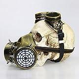 Gzhengjie Máscara de Gas Protectora para Cosplay, Steam Punk, Gothic, EDM, mascarilla de protección respiratoria con Pinchos de Metal, Ideal como,Metallic